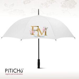 gran paraguas fallera mayor personalizado