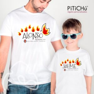 Camiseta fallera flama